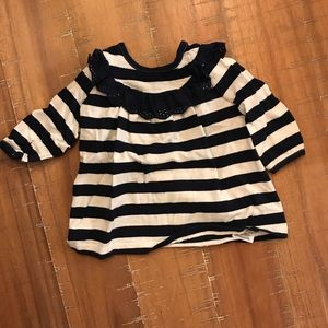 3-6 mo gap laced and striped blouse